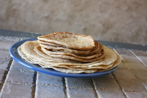 soaked whole grain tortillas