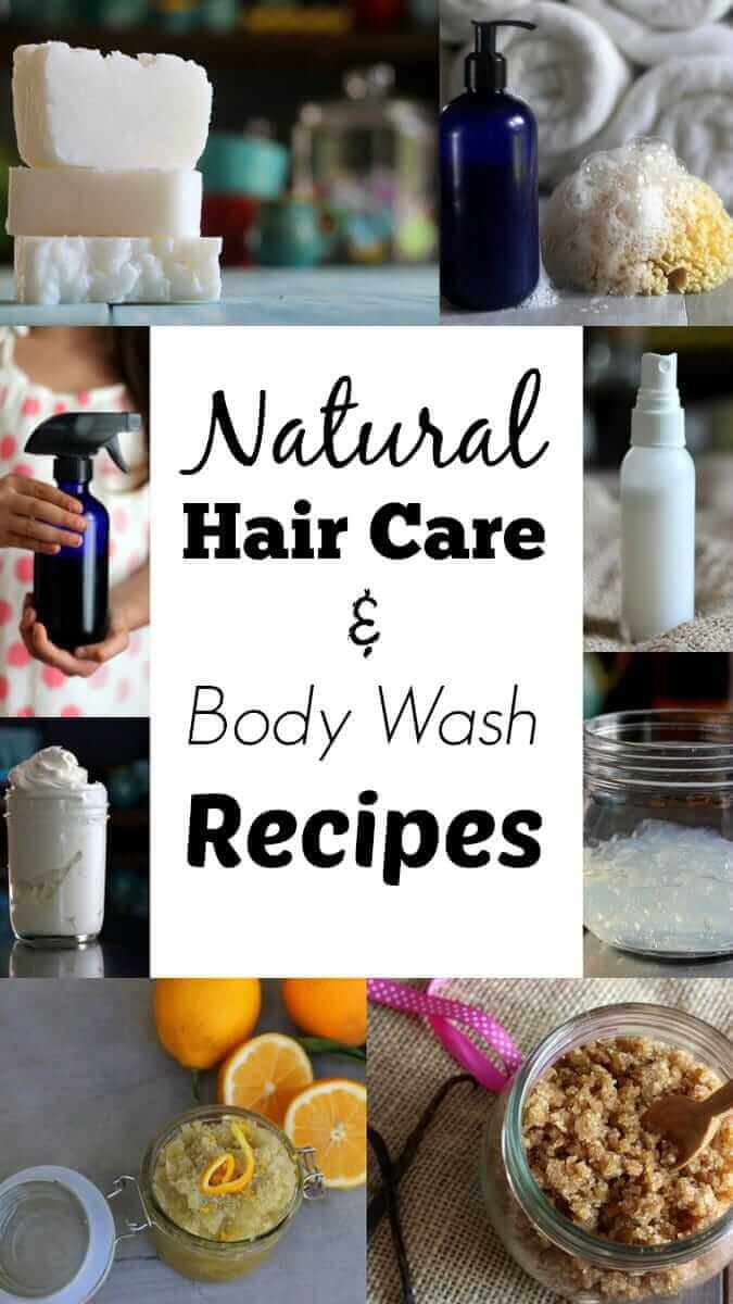 Natural Hair Care And Body Wash - Some of my favorite tried-and-true recipes, plus pre-made options if you don't want to make them yourself. :)