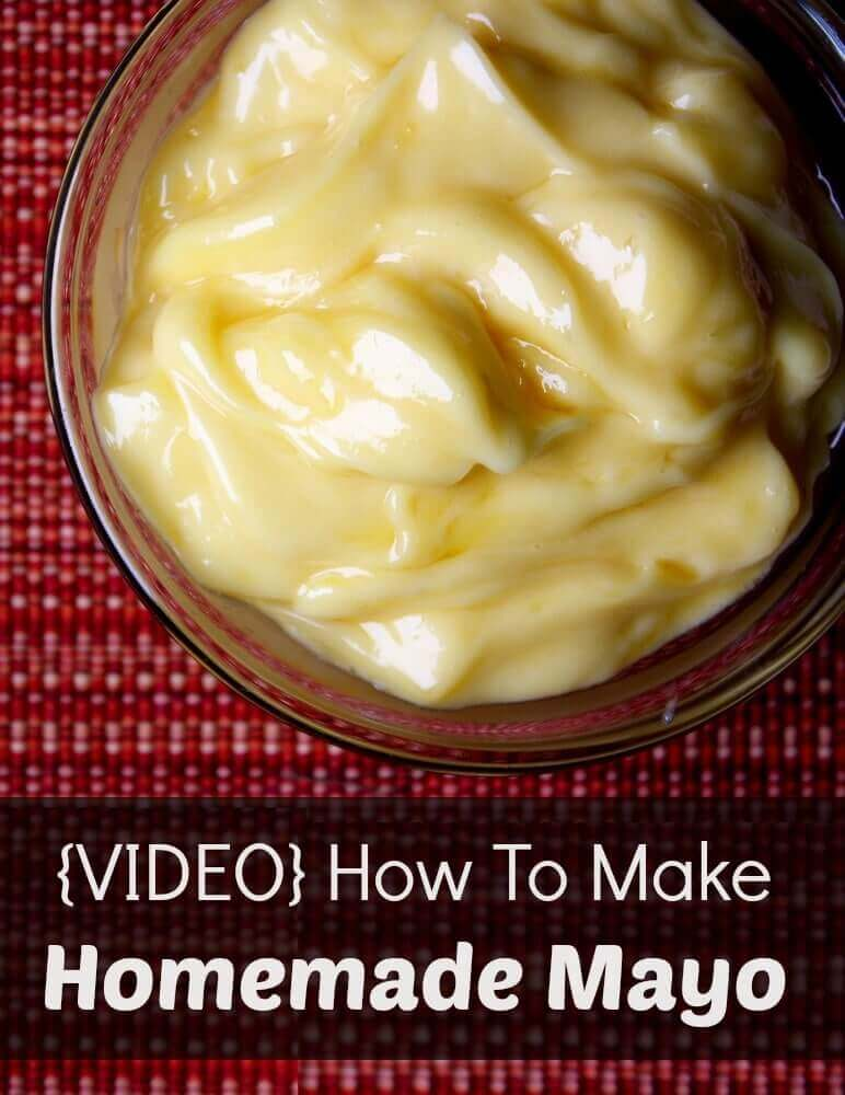Easy homemade mayo recipe!