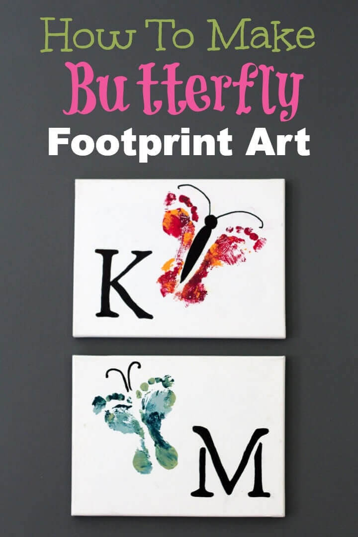 How To Make Butterfly Footprint Art