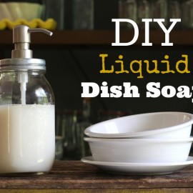 Homemade Liquid Dish Soap Recipe