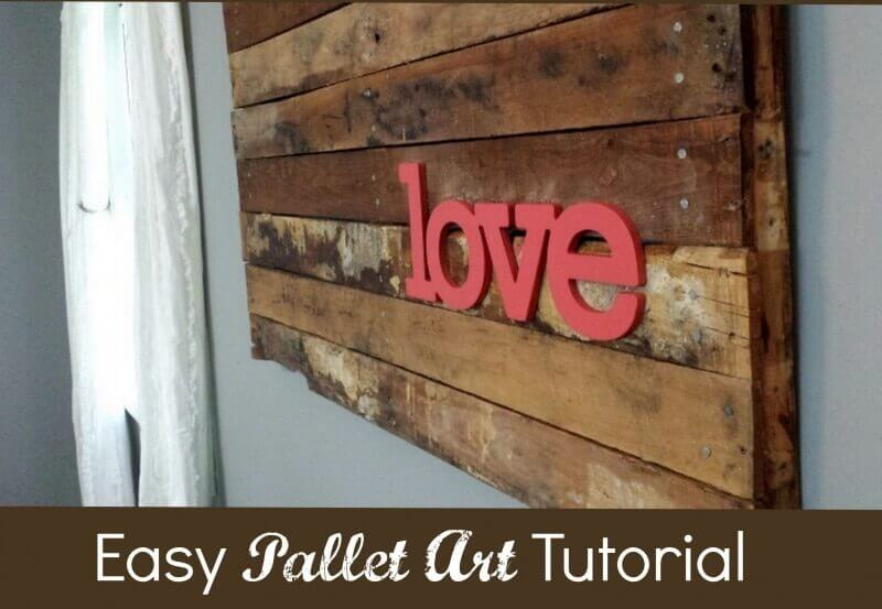 Easy DIY Pallet Art