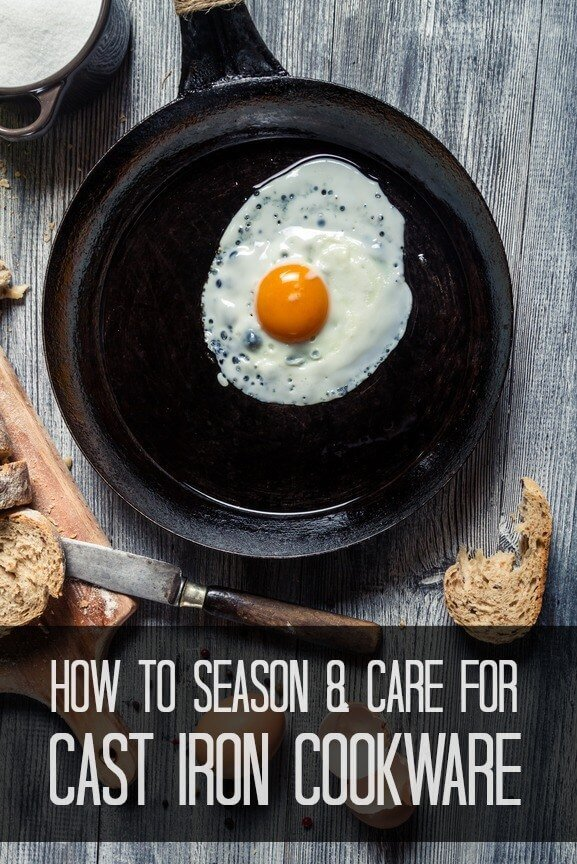 cast iron pan with a sunny side up egg inside