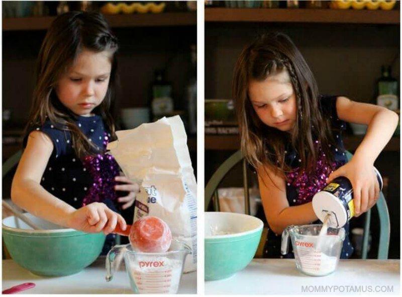 Salt dough ornament recipe - flour and salt
