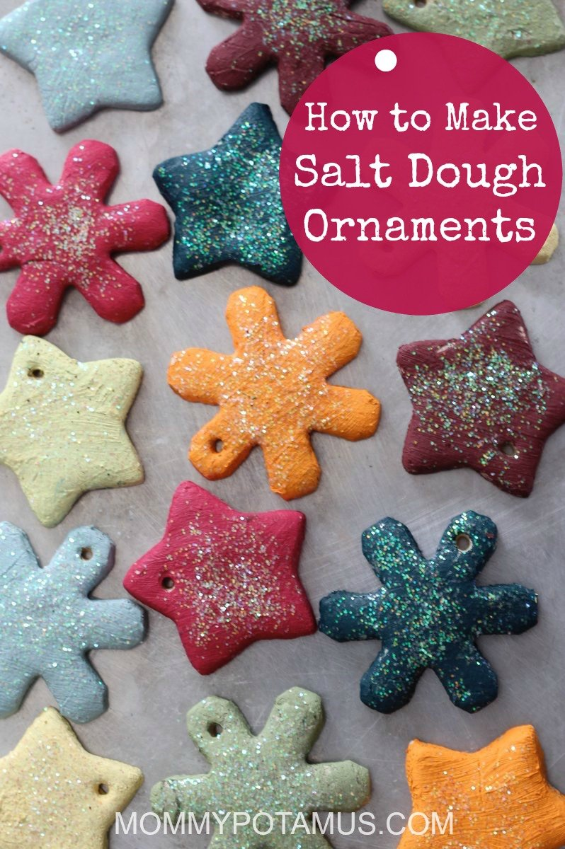"""This salt dough ornament recipe is as easy as 1-2-3! Plus, after all the fun is over you have a sweet keepsake for your tree. And possibly a gift for the grandparents, too."