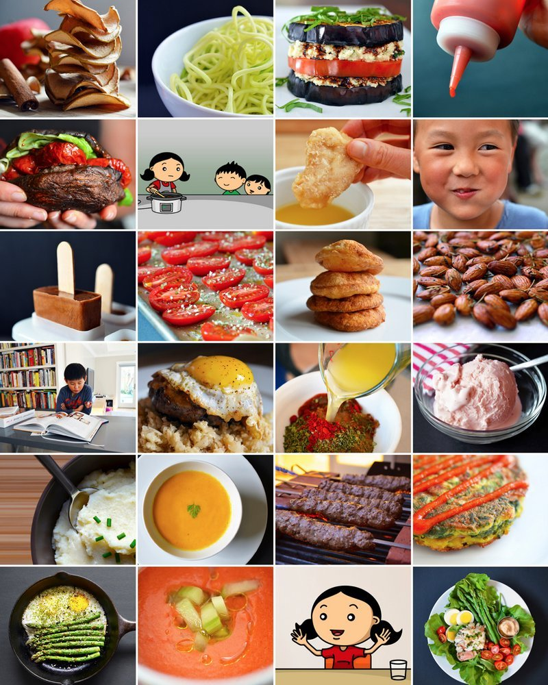 images of recipes included in the cookbook