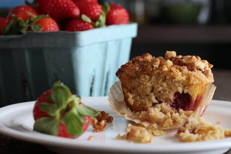 grain free paleo strawberry muffins