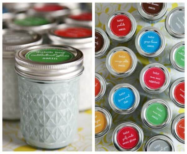 Mason Jars Paint Storage Collage