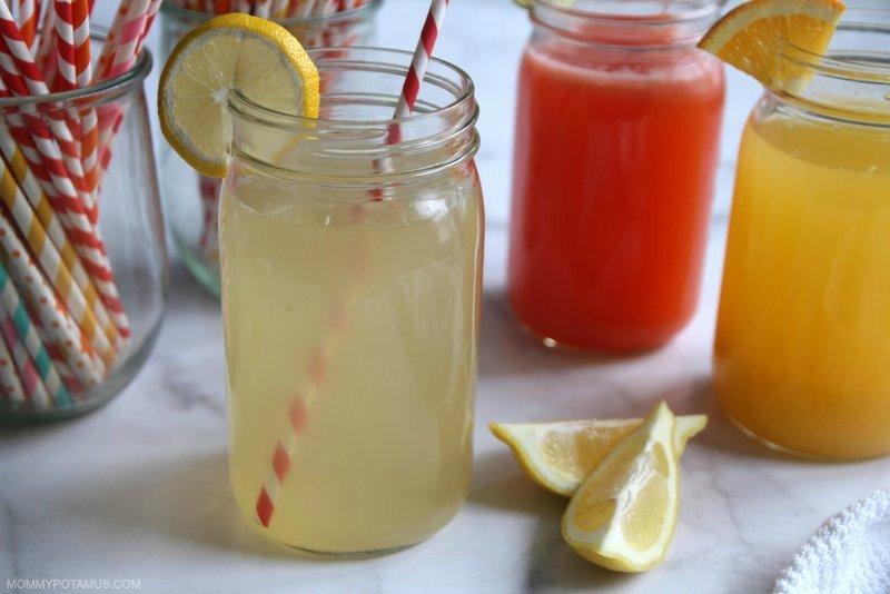 DIY lemon electrolyte sports drink in mason jar