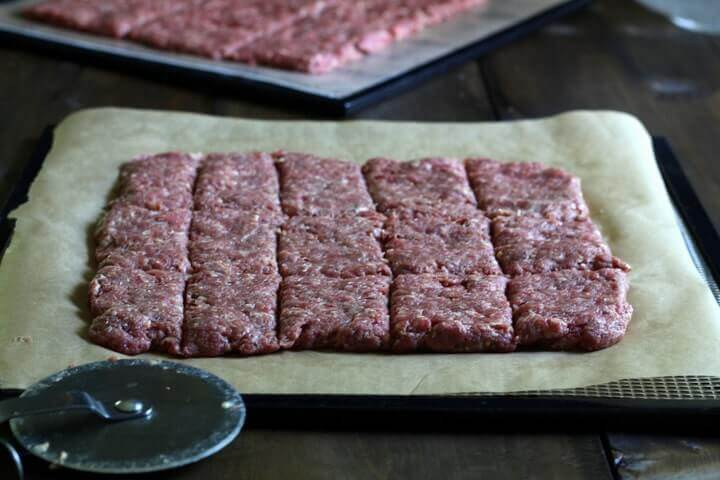 "Beef jerky is the original protein bar :) This ""go to"" recipe is so simple - it only has three ingredients!"