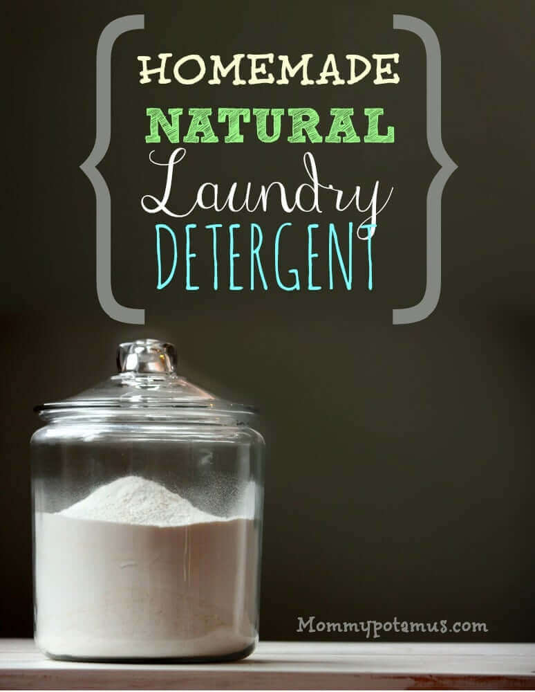 Homemade natural laundry detergent made EASY!! And it's borax-free, too.