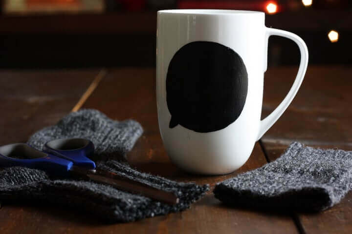 Sock mug cozy how to