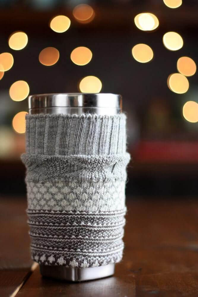 travel coffee mug sock cozy tutorial