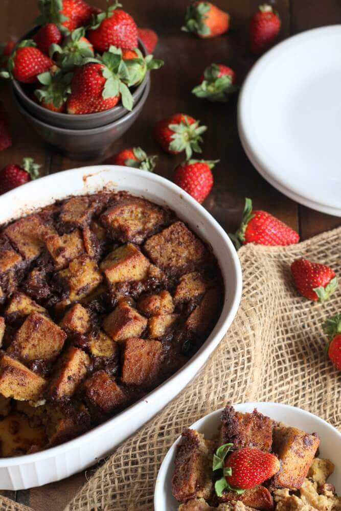 Gluten-Free Bread Pudding - Cinnamon, vanilla and cinnamon infused grain-free bread baked with milk and pastured butter