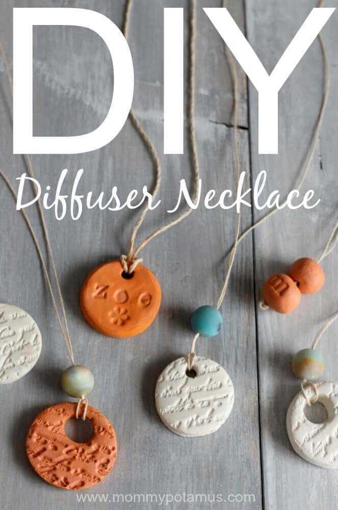 Bring your favorite essential oils with you! These DIY Aromatherapy Diffuser Necklaces are stylish and purposeful, they work with all essential oils, and they can diffuse for days on end without needing more oils!