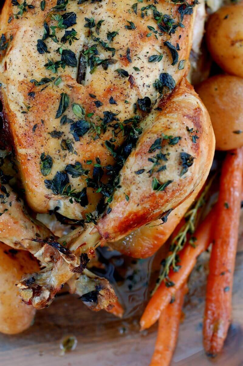 Herb Roasted Chicken Recipe With Herb-Infused GravyMommypotamus |
