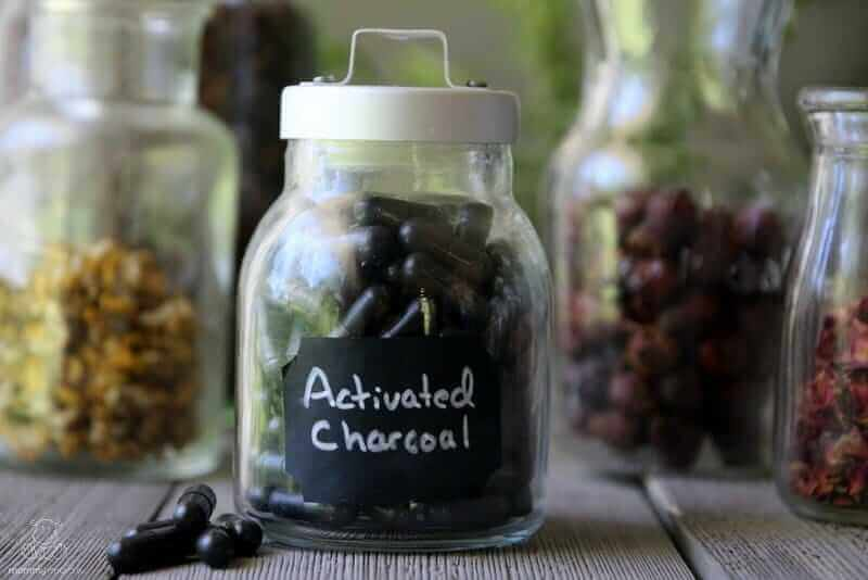 activated charcoal natural remedy stomach ache