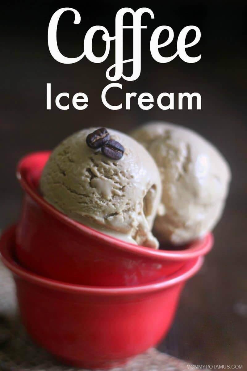 Homemade Coffee Ice Cream Recipe #realfood