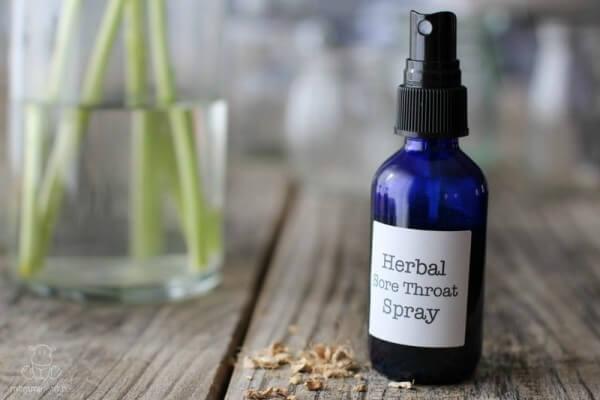 Soothing Herbal Throat Spray Recipe
