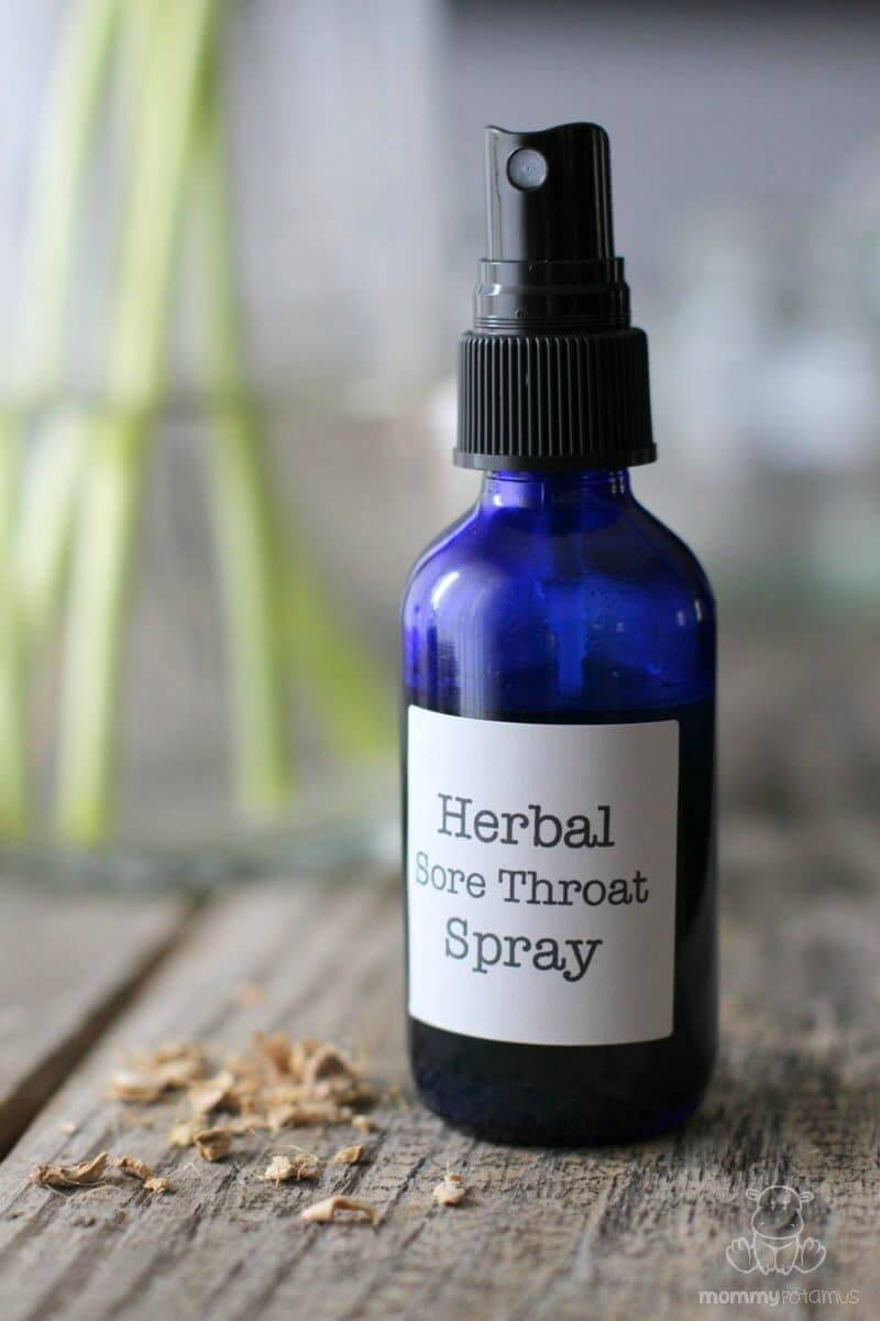 Soothing Homemade Throat Spray