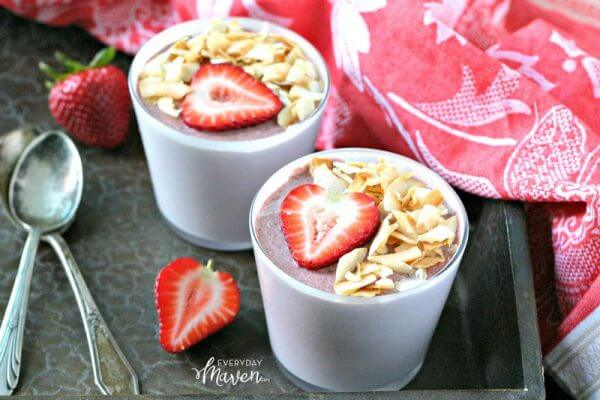 Coconut Strawberry Chia Pudding