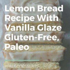 loaf of sliced lemon bread