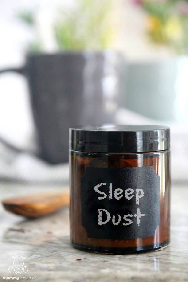 This sleep dust recipe makes an instant cup of powerful sleep promoting herbs. Just add water!
