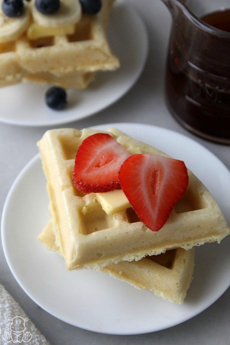 homemade gluten free waffles almond flour