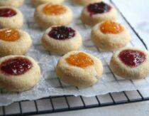Easy Jam Thumbprint Cookies (Gluten-Free, Paleo)