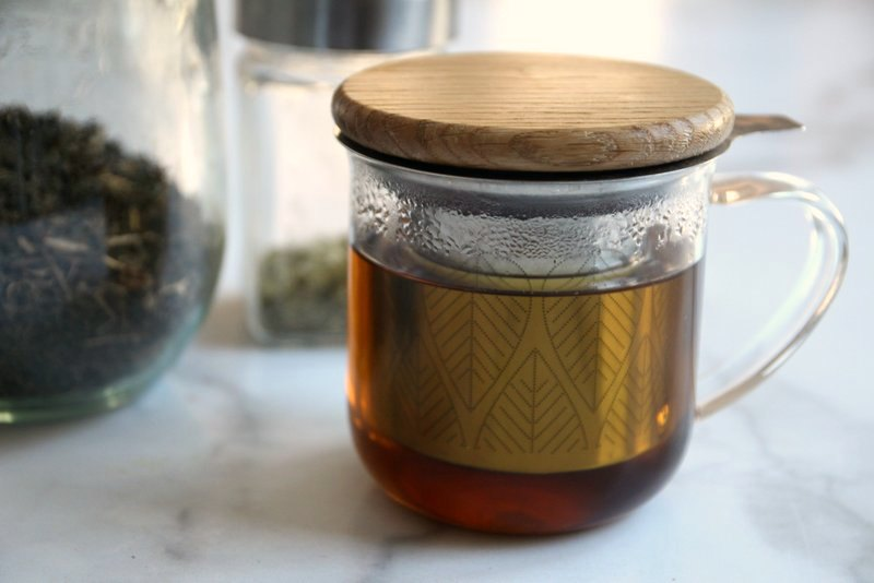 Mineral-rich herbal tea for bone healing on countertop