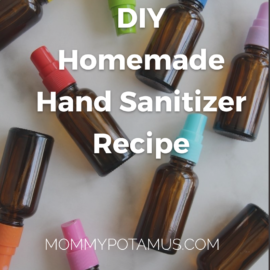 bottles of homemade hand sanitizer