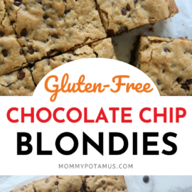 Chocolate Chip Blondies Recipe (Paleo & Gluten-Free)