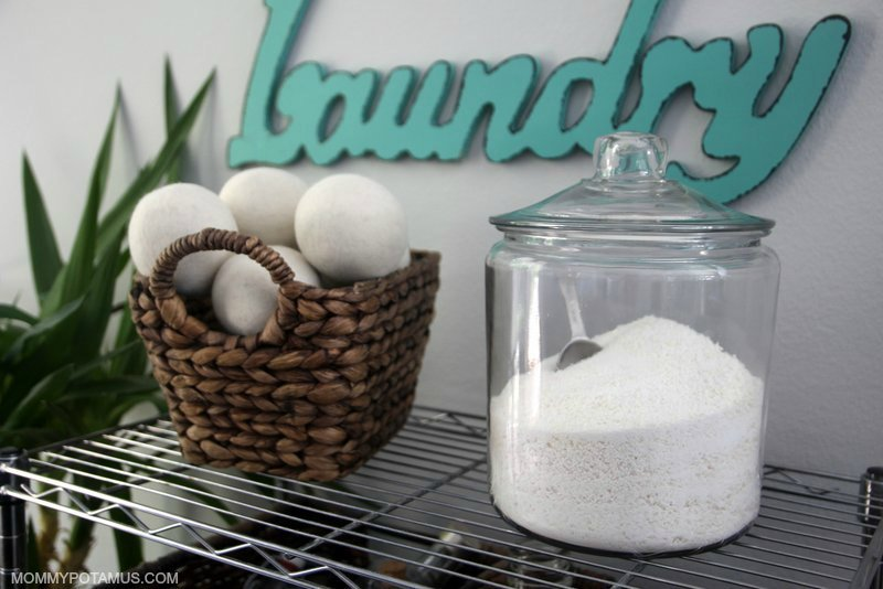 Homemade laundry detergent made from baking soda