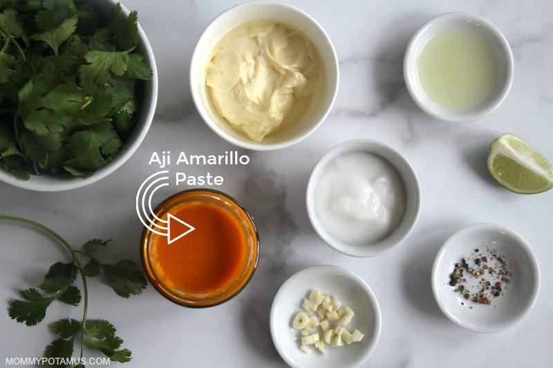 peruvian green sauce aji amarillo paste