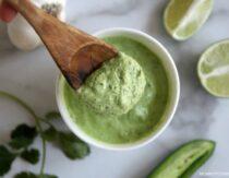 Peruvian Green Sauce Recipe (Aji Verde)