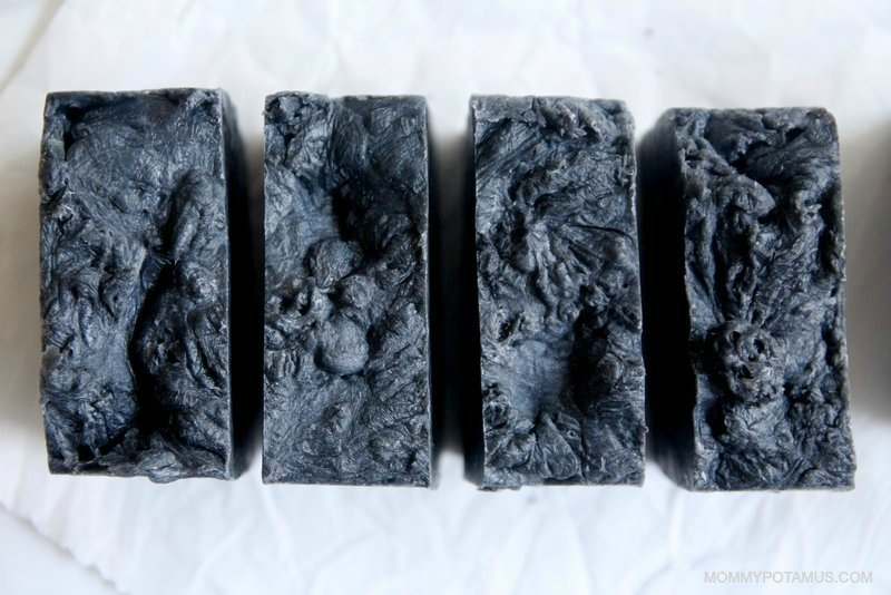 diy activated charcoal soap recipe step 11
