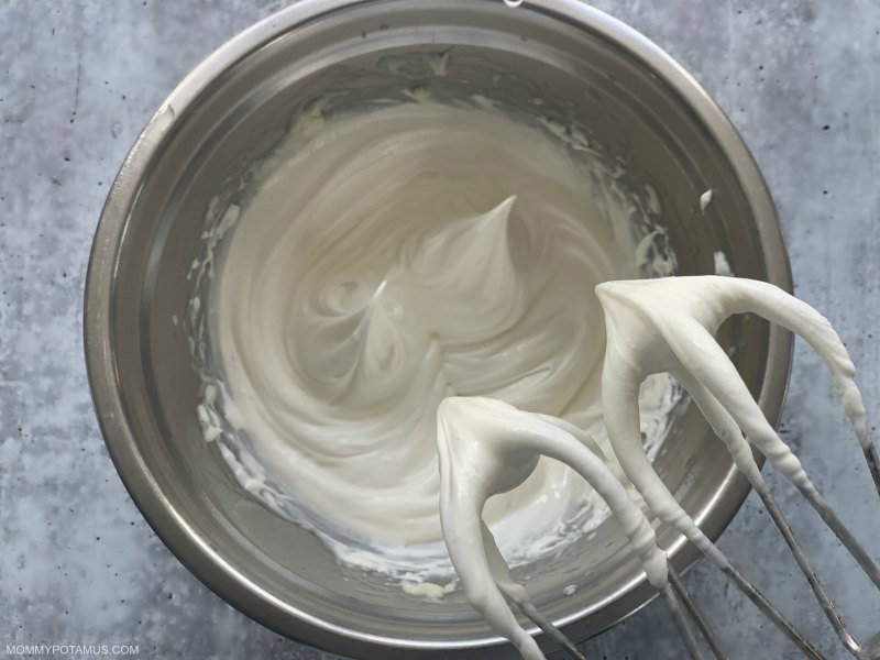 Homemade whipped body butter in a bowl.