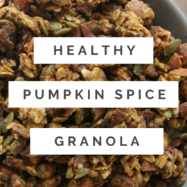paleo pumpkin spice granola recipe