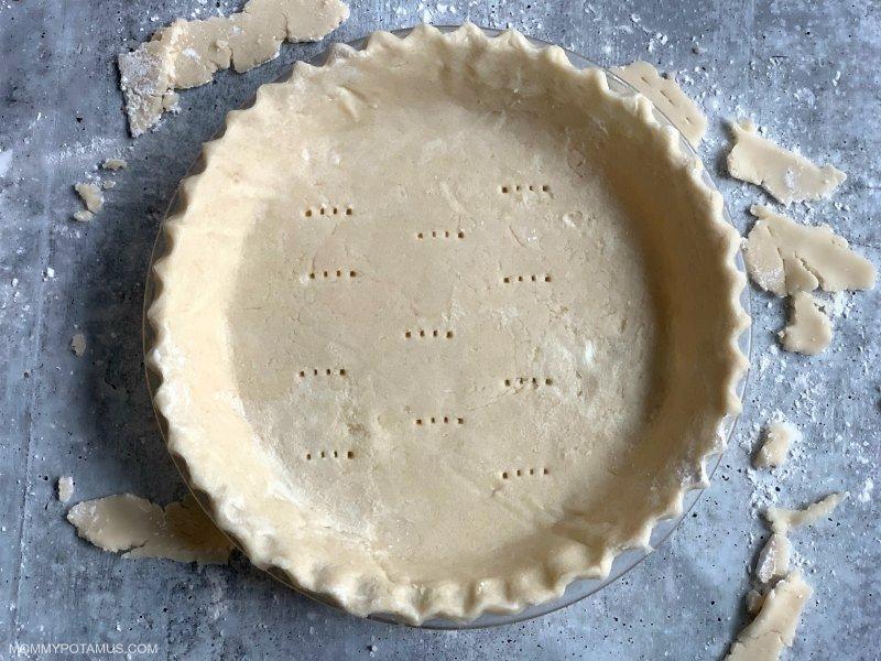 gluten free pie crust recipe step