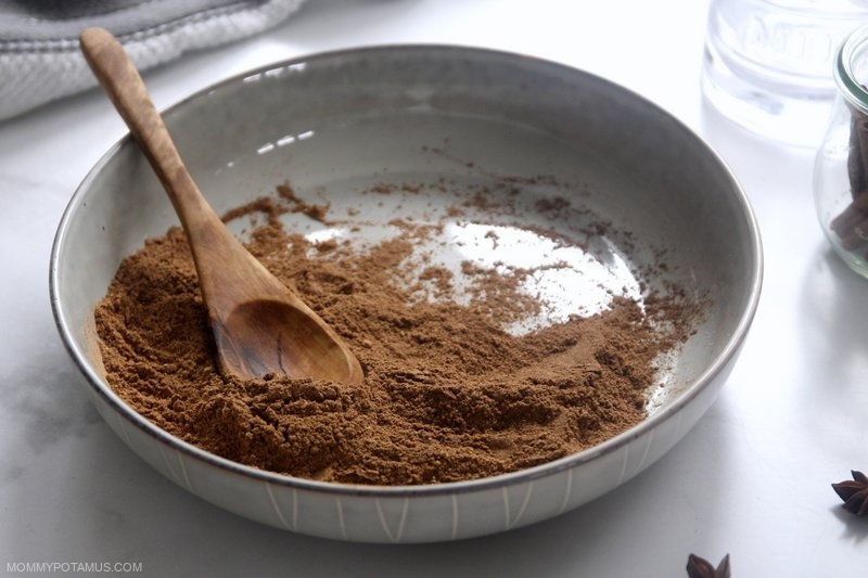 Chai mix in a bowl