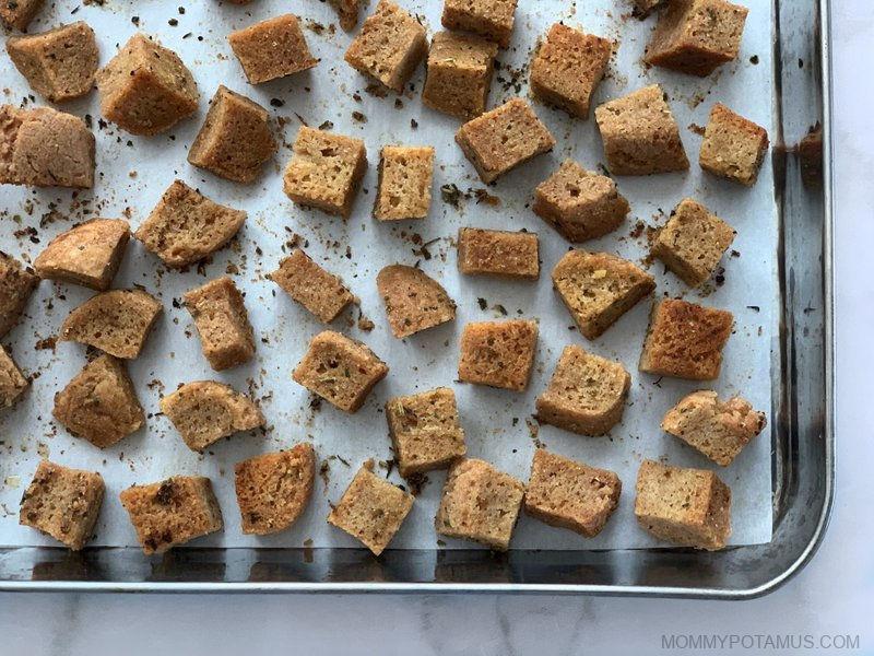 gluten free croutons recipe step