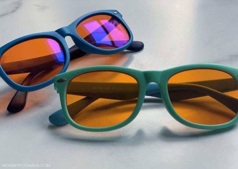 2 pairs of blue blocking glasses
