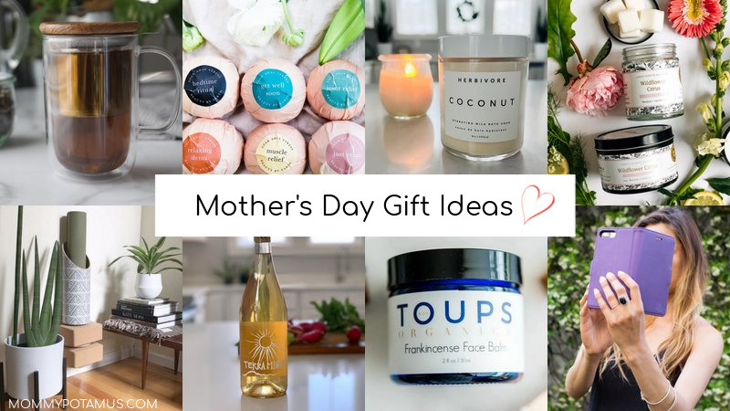 Photo collage of different Mother's Day gift ideas