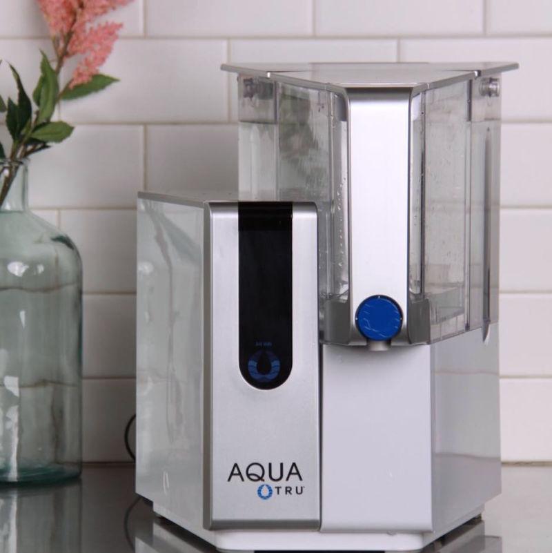 AquaTru reverse osmosis filter on countertop
