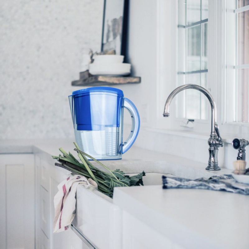 ProOne pitcher filter on countertop