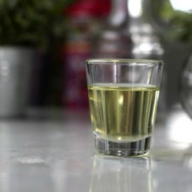Photo of cod liver oil on countertop