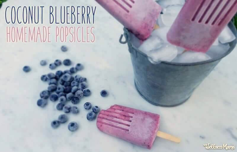 coconut blueberry popsicle