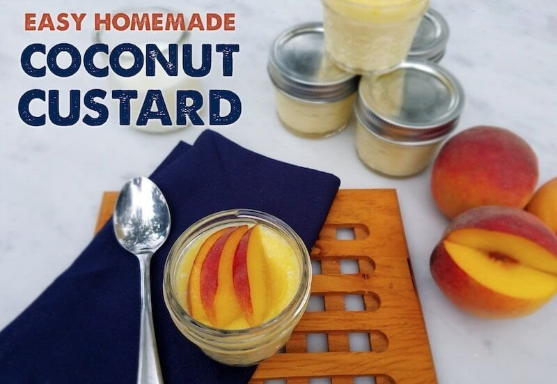 easy coconut custard