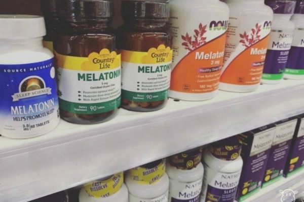 Melatonin supplements on store shelves