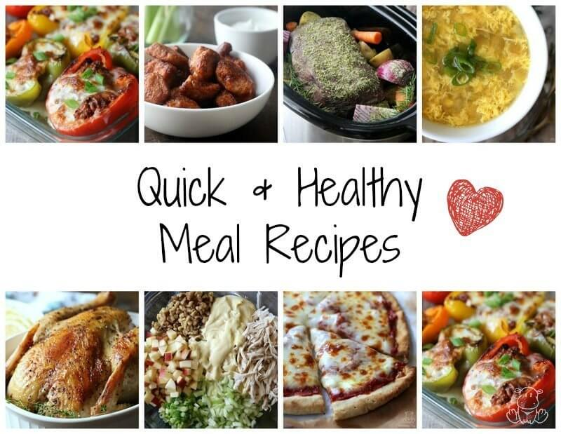 Photo collage of quick healthy meals